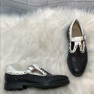 Aerogreen Italian Woven Leather Golf Shoe Sz 7